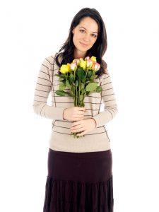 Devojka, cveće, Izvninjenje