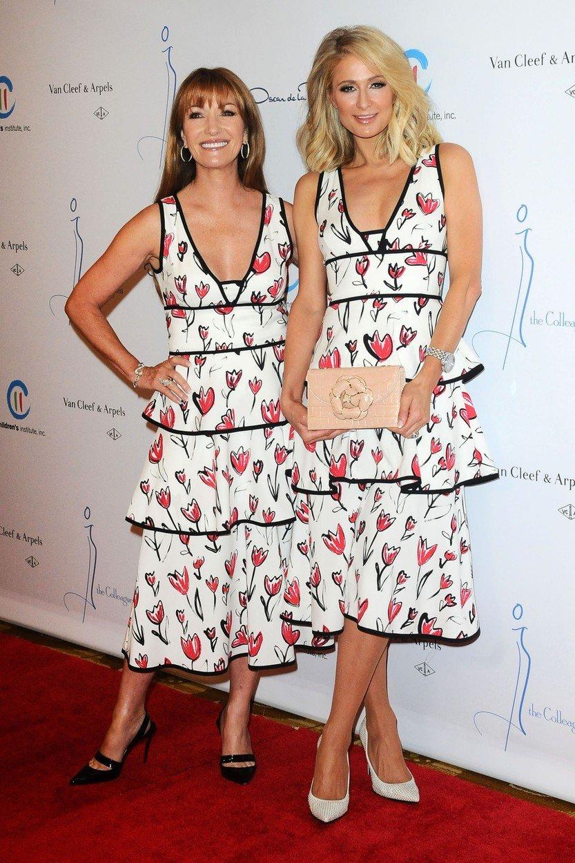 Paris Hilton, Džejn Sejmor, cvetna haljina